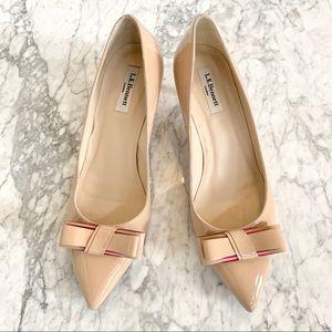 LK Bennett Patent Leather Kitten Heel w/ Bow UK 41